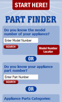 Air conditioning parts and heating system parts finder